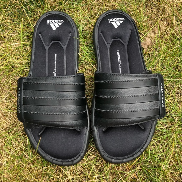 6e1077f745c6 adidas Other - Men s black Adidas Fit foam slide sandals.
